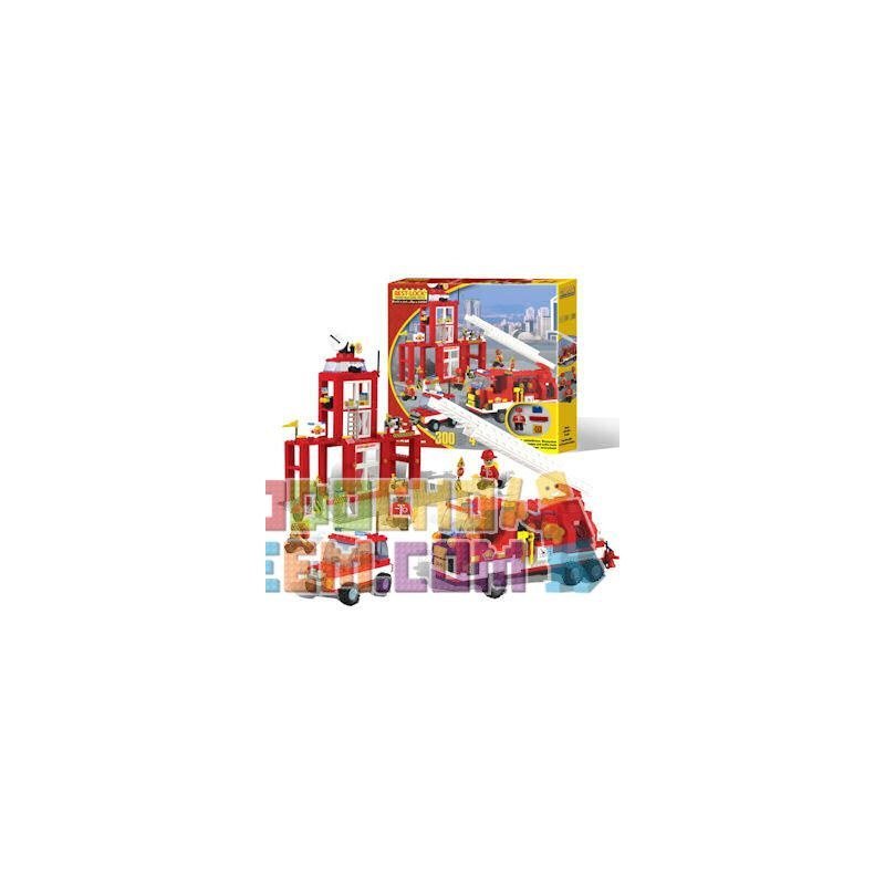 BEST-LOCK 2137 Xếp hình kiểu Lego CITY Firefighter Play Set Fire Suit Bộ đồ Cứu Hỏa 300 khối