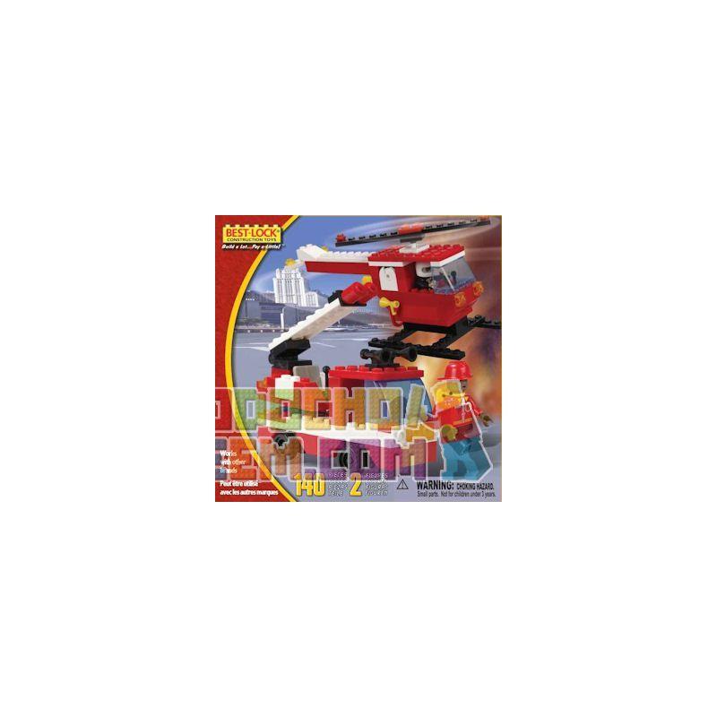 BEST-LOCK 3489 Xếp hình kiểu Lego CITY Firefighter Play Set Fire Suit Bộ đồ Cứu Hỏa 140 khối