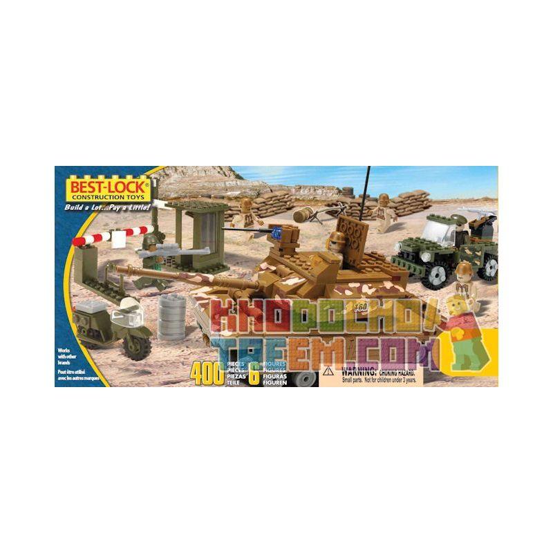 BEST-LOCK 4010 Xếp hình kiểu Lego MILITARY ARMY Tank And Patrol Car Tanks And Patrol Cars Xe Tăng Và Xe Tuần Tra 400 khối