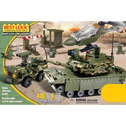 BEST-LOCK 4012 Xếp hình kiểu Lego MILITARY ARMY Green Tank, Helicopter And Patrol Car Green Tanks, Helicopters And Patrol Cars Xe Tăng Xanh, Trực Thăng Và Xe Tuần Tra 400 khối