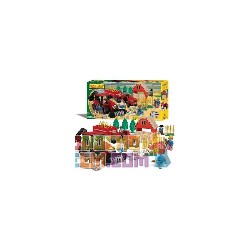 BEST-LOCK 4449 Xếp hình kiểu Lego CITY Red Farm Play Set Red Farm Suit Trang Phục Màu đỏ 450 khối