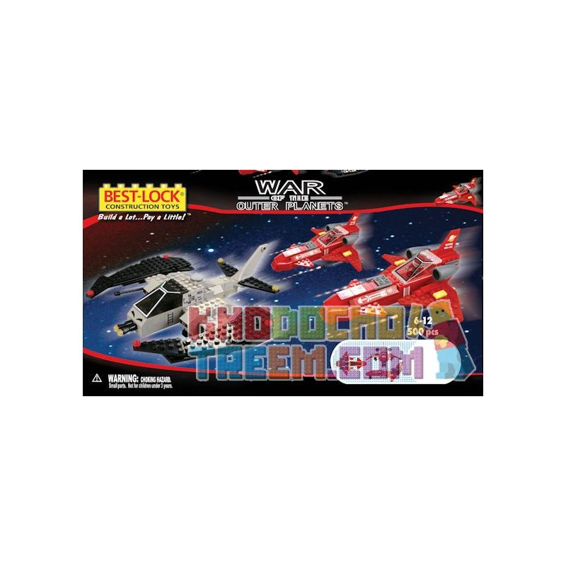 BEST-LOCK 5025 Xếp hình kiểu Lego Raider And 2 Hawk Genist And 2 Eagle Fighters Marauder Và 2 Chiến Binh Đại Bàng 500 khối