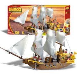 BEST-LOCK 6218 Xếp hình kiểu Lego English Galleone British Big Sailboat Galleon Của Anh 450 khối