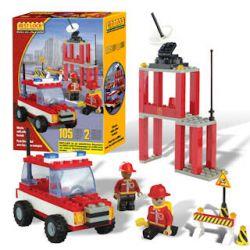 BEST-LOCK 12301 Xếp hình kiểu Lego CITY Firefighter Play Set Fire Suit Bộ đồ Cứu Hỏa 105 khối