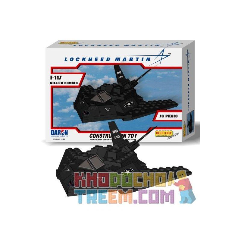 BEST-LOCK 14185 Xếp hình kiểu Lego MILITARY ARMY F-117 Stealth Bomber Máy Bay Ném Bom Tàng Hình F-117 76 khối