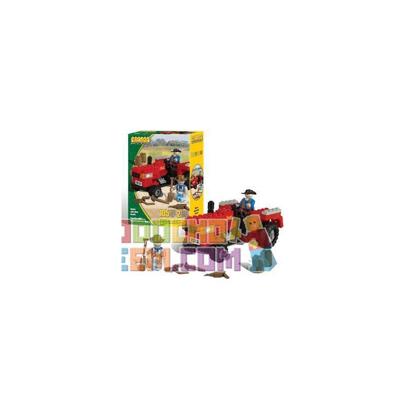 BEST-LOCK 14421 Xếp hình kiểu Lego CITY Red Tractor Máy Kéo Màu đỏ 105 khối