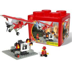 BEST-LOCK 22300 Xếp hình kiểu Lego CITY Firefighter Plane In Plastic Container Fire Fighting Aircraft (Packed In Plastic Box) Máy Bay Chữa Cháy (Đóng Gói Trong Hộp Nhựa) 105 khối