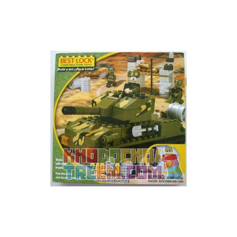 BEST-LOCK 24007 Xếp hình kiểu Lego MILITARY ARMY Green Tank Bể Xanh 240 khối