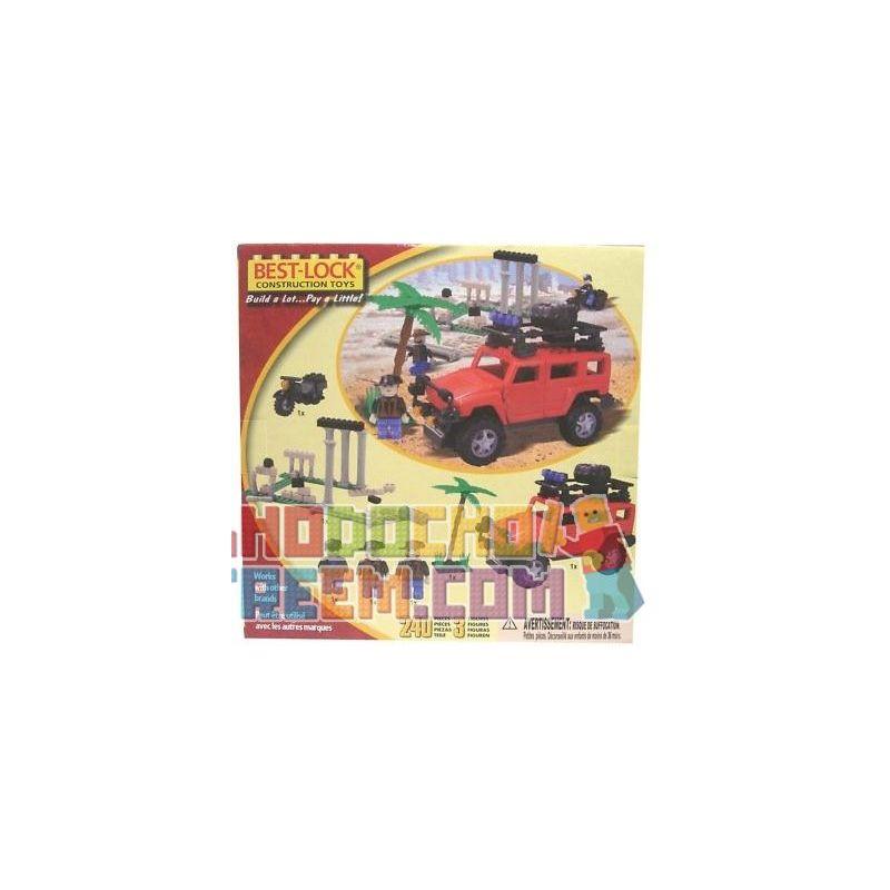 BEST-LOCK 24011 Xếp hình kiểu Lego CITY Explorer Hummer Explorer Hummer. 240 khối