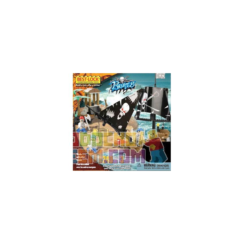 BEST-LOCK 24014 Xếp hình kiểu Lego Pirate Boat Pirate Ship Tàu Cướp Biển 240 khối