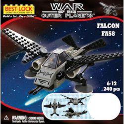 BEST-LOCK 24034 Xếp hình kiểu Lego Falcon FA58 FA58 Falcon Fighter Máy Bay Chiến đấu Falcon FA58 240 khối