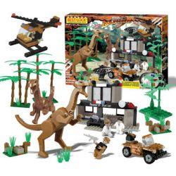 BEST-LOCK 33020 Xếp hình kiểu Lego DINO Dinosaur Research Station Trạm Nghiên Cứu Khủng Long 330 khối