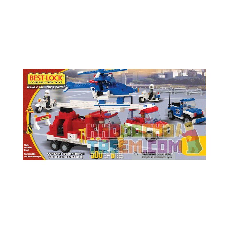 BEST-LOCK 50007 Xếp hình kiểu Lego CITY Rescue Set Rescue Kit Bộ Cứu Hộ 500 khối