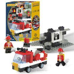 BEST-LOCK 12302 Xếp hình kiểu Lego CITY Firefighter Play Set Fire Fighting Set Bộ Phòng Cháy Chữa Cháy 105 khối