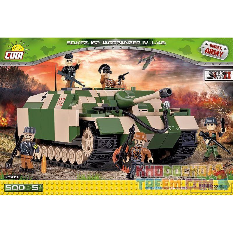 COBI 2509 Xếp hình kiểu Lego MILITARY ARMY Jagdpanzer IV L Aka 48 Sd.Kfz.162 4 Self-contained Anti-tank Gun Pháo Chống Tăng Tự Hành Số 4 500 khối