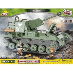 COBI 2380 Xếp hình kiểu Lego MILITARY ARMY SU-76M Limited Edition SU-76M Phiên Bản Giới Hạn 400 khối