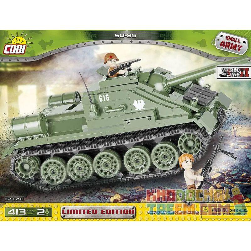 COBI 2379 Xếp hình kiểu Lego MILITARY ARMY SU-85 Limited Edition SU-85 Phiên Bản Giới Hạn 413 khối