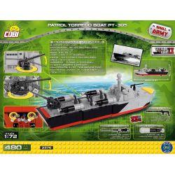 COBI 2376 Xếp hình kiểu Lego MILITARY ARMY Patrol Torpedo Boat PT-305 PT-305 Torpedo Patrol Boat Thuyền Tuần Tra Ngư Lôi PT-305 480 khối
