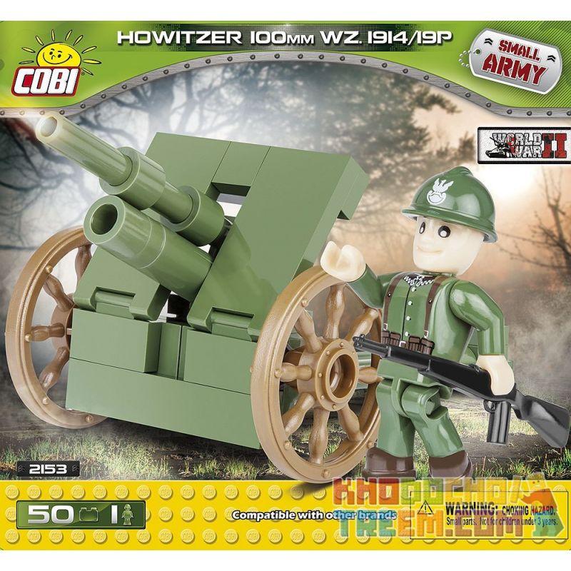 COBI 2153 Xếp hình kiểu Lego MILITARY ARMY Howitzer 100 Mm Wz.1914 19 P 100 Mm Wz.1914 19 P Howitzer Lựu Pháo 100 Mm Wz.1914 19 P 50 khối