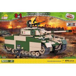 COBI 2508 Xếp hình kiểu Lego MILITARY ARMY Pz.Kpfw. IV Ausf. F1 G H Tank Four Xe Tăng Bốn 500 khối