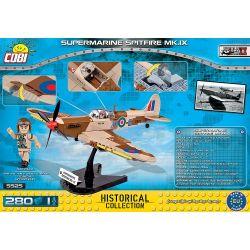 COBI 5525 Xếp hình kiểu Lego MILITARY ARMY Supermarine Spitfire Mk. IX Spitfire Mk IX 280 khối