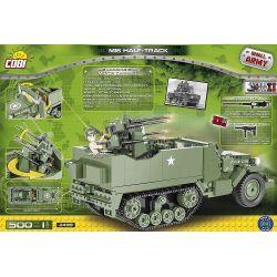 COBI 2499 Xếp hình kiểu Lego MILITARY ARMY M16 Half-Track M16 Semi-track M16 Bán đường 500 khối