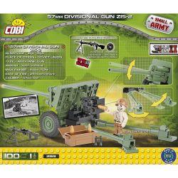 COBI 2169 Xếp hình kiểu Lego MILITARY ARMY 57mm Divisional Gun ZIS-2 M-43 57mm Anti-tank Gun (ZiS-2) Súng Chống Tăng M-43 57mm (ZiS-2) 100 khối