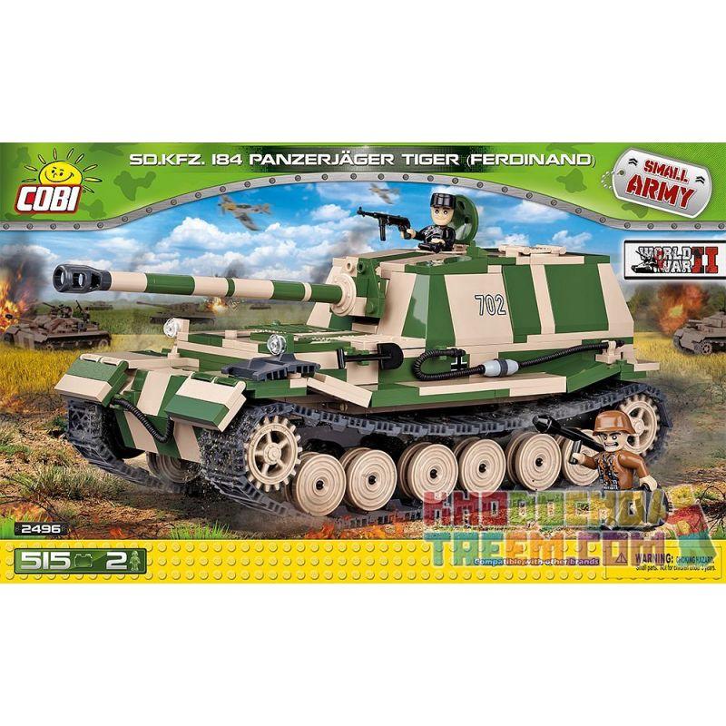 COBI 2496 Xếp hình kiểu Lego MILITARY ARMY Panzerjäger Tiger (P) Ferdinand Tiger (P) Tank Destroyer Tàu Khu Trục Tiger (P) 515 khối