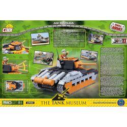 COBI 2495 Xếp hình kiểu Lego MILITARY ARMY Matilda Mk.II A12 Matilda Mk.II Infantry Tank (A12) Xe Tăng Bộ Binh Matilda Mk.II (A12) 510 khối