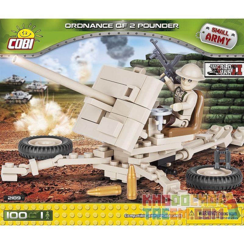 COBI 2189 Xếp hình kiểu Lego MILITARY ARMY Ordnance QF 2-pounder QF 2 Pounder 100 khối