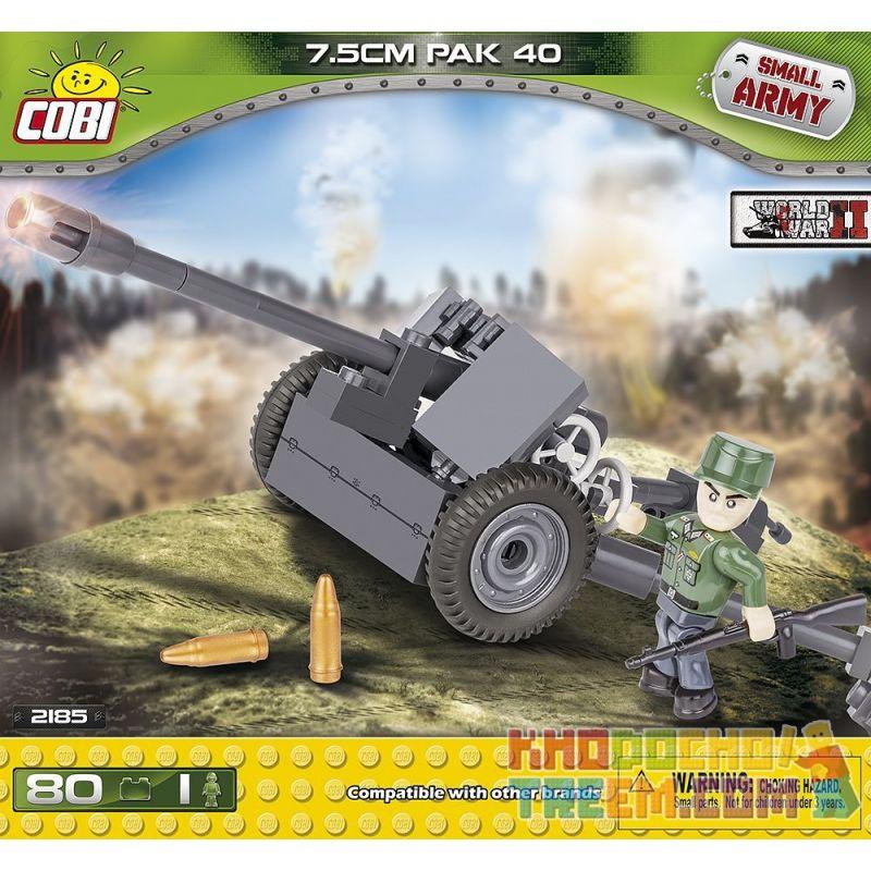 COBI 2185 Xếp hình kiểu Lego MILITARY ARMY Pak 40 7.5 Cm Pak 40 Anti-tank Gun Súng Chống Tăng Pak 40 80 khối