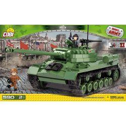 COBI 2492 Xếp hình kiểu Lego MILITARY ARMY IS-3 Tank Xe Tăng IS-3 590 khối