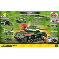 COBI 2491 Xếp hình kiểu Lego MILITARY ARMY IS-2M Tank Xe Tăng IS-2M 575 khối