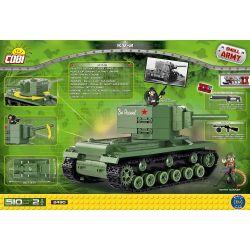 COBI 2490 Xếp hình kiểu Lego MILITARY ARMY KV-2 Tank Xe Tăng KV-2 510 khối
