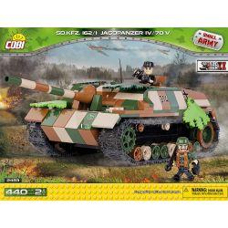 COBI 2483 Xếp hình kiểu Lego MILITARY ARMY Sd.Kfz.162 1 Jagdpanzer IV 70(V) Tiger Destroyer IV Khu Trục Hạm Tiger IV 440 khối