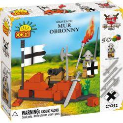 COBI 27052 27055 Xếp hình kiểu Lego Defence Wall Defensive Wall Tường Phòng Thủ gồm 2 hộp nhỏ 50 khối