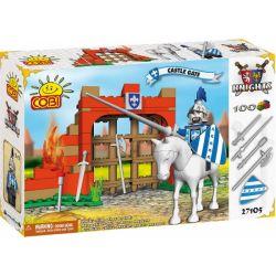 COBI 27105 Xếp hình kiểu Lego CASTLE Castle Gate Cổng Lâu đài 100 khối