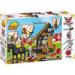 COBI 27104 27107 Xếp hình kiểu Lego Trebuchet Stone Thrower Người Ném đá gồm 2 hộp nhỏ 100 khối