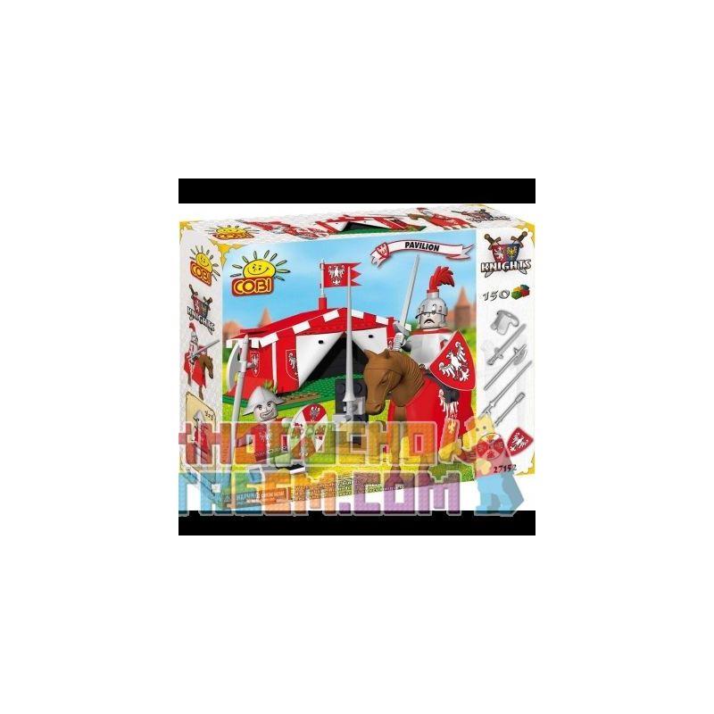 COBI 27150 27152 Xếp hình kiểu Lego Pavilion Tent Cái Lều gồm 2 hộp nhỏ 150 khối