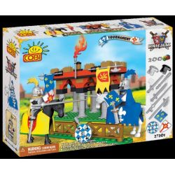 COBI 27200 27201 Xếp hình kiểu Lego Knight Tournament Giải đấu Hiệp Sĩ gồm 2 hộp nhỏ 200 khối