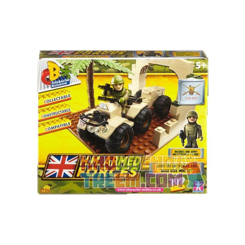 COBI CHARACTER BUILDING 03854 Xếp hình kiểu Lego MILITARY ARMY Army Quad Bike Mini Set Military ATV Mini Kit Bộ ATV Quân Sự 109 khối