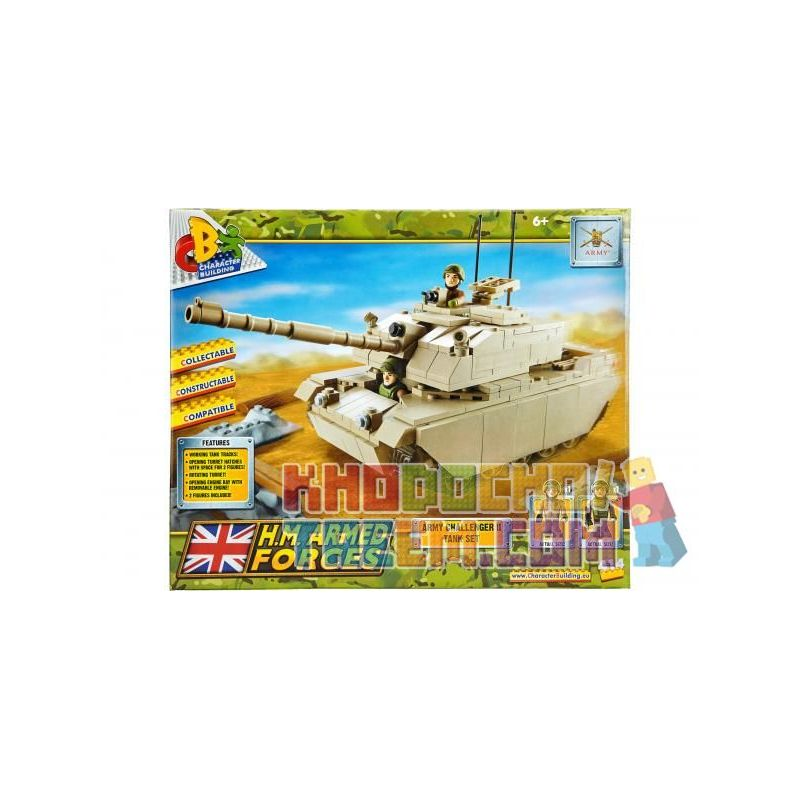 COBI CHARACTER BUILDING 04033 Xếp hình kiểu Lego MILITARY ARMY Challenger 2 Tank Set Bộ Xe Tăng Challenger 2 414 khối