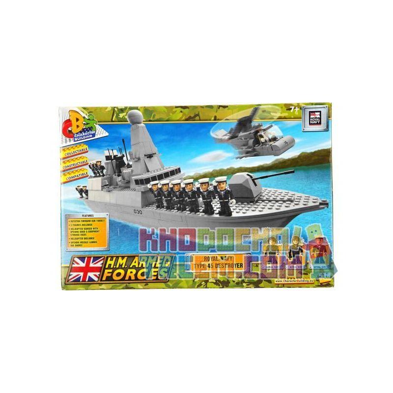 COBI CHARACTER BUILDING 04034 Xếp hình kiểu Lego MILITARY ARMY Type 45 Destroyer Khu Trục Hạm Kiểu 45 514 khối