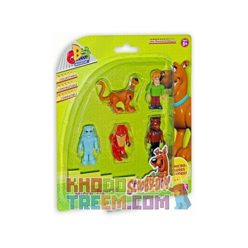 COBI CHARACTER BUILDING 04550-2 Xếp hình kiểu Lego SCOOBY-DOO Scooby Doo Character Building 5 Micro Figure Pack - Set A Scooby Doo Mini Mini Bag Set A Bộ Túi Mini Scooby Doo Mini A