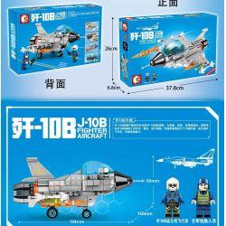 SEMBO 202124 Xếp hình kiểu Lego MILITARY ARMY J-10B Fighter Aircraft Q Version Of Chinese J-10B Fighter Phiên Bản Q Của Tiêm Kích J-10B Trung Quốc 338 khối