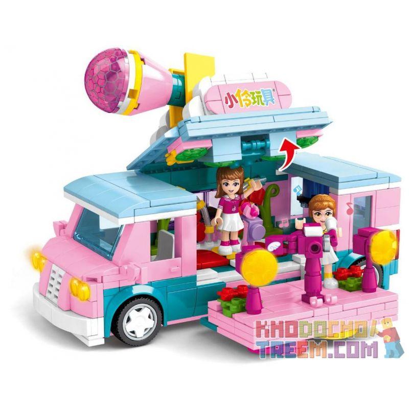 SEMBO 604001 Xếp hình kiểu Lego FRIENDS Xiaoling Toys Creative Interview Car Xe Phỏng Vấn Sáng Tạo 583 khối