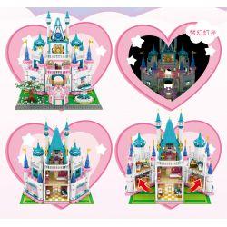 SEMBO 604003 Xếp hình kiểu Lego FRIENDS 小 伶 玩 Light Princess Castle Lâu đài Công Chúa ánh Sáng 3008 khối
