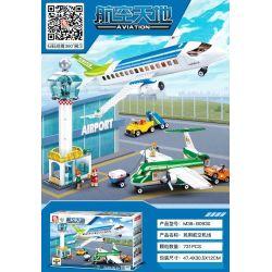 SLUBAN M38-B0930 B0930 0930 M38B0930 38-B0930 Xếp hình kiểu Lego CITY Aviation Airpot Aviation World Civil Aviation Airport Sân Bay Hàng Không Dân Dụng 731 khối