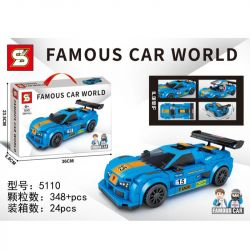 SHENG YUAN SY 5110 Xếp hình kiểu Lego RACERS Famous Car World Luxury Car World 5110 348 khối