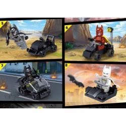 PRCK 64080 Xếp hình kiểu Lego Batman Bat Chariot 8 Combinations Bat Xe Ngựa Kết Hợp 8